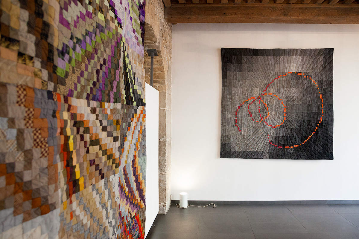 sabine cibert, art contemporain, art textile grands formats, Showroom Galerie 7 partitions textiles, itinéraire grand format,
