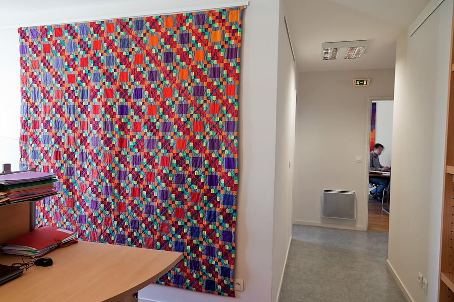 Sabine Cibert ; art textile ; un itinéraire grand format; art contemporain;
