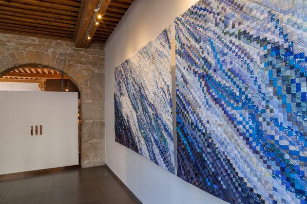 en Résonance avec la Biennale de Lyon 2017art textile, sabine cibert, art contemporain, Showroom Galerie 7 toiles grands formats, exposition émergences